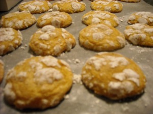 Lemon Cookies fresh from the oven