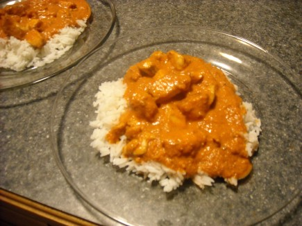 Butter Chicken over Jasmine Rice