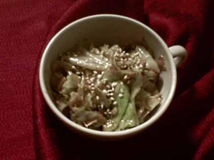 Spicy Sesame Cabbage
